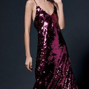 Free People Pailette Seqions Slip Dress Berry S